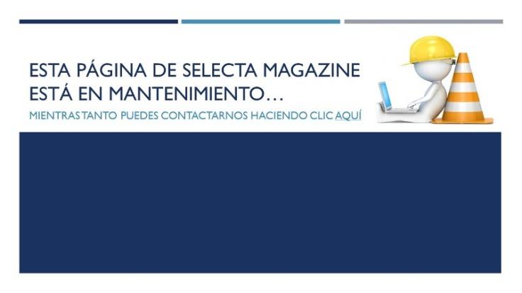 Página de Selecta Magazine en mantenimiento