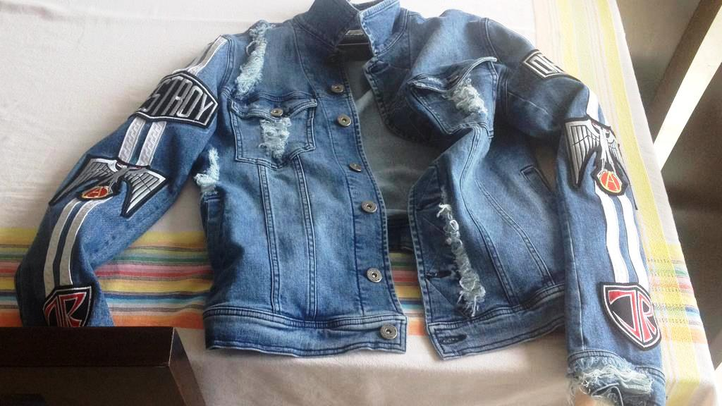 CM7 custom denim jacket Destroy