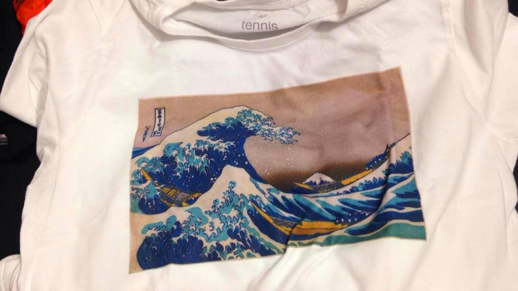 CM7 custom print t-shirt wave