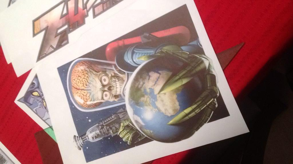 CM7 custom print t-shirt Mars Attacks