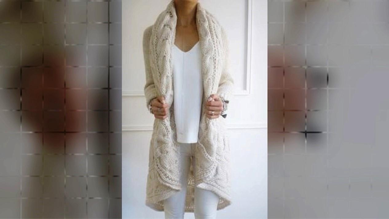 Recopilación de 100 ideas para abrigos tejidos con agujetas (2 agujas) - inspiración para tejedoras.